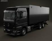 3D model of Mercedes-Benz Actros Box Truck 2002