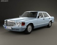 3D model of Mercedes-Benz S-Class (W126) 1979