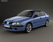 3D model of Mitsubishi Carisma liftback 2000
