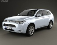 3D model of Mitsubishi Outlander PHEV 2013