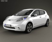 3D model of Nissan Leaf 2013