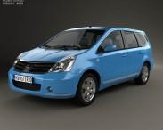 3D model of Nissan Livina Geniss 2006
