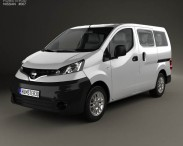 3D model of Nissan NV200 combi 2011
