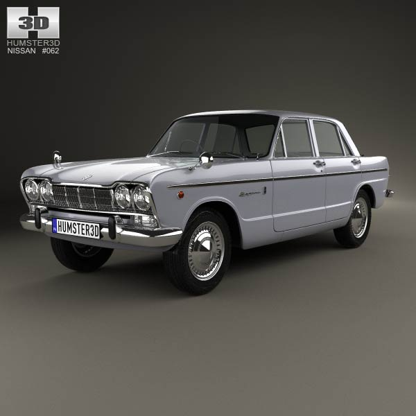 Nissan Skyline (S54) GT 1964 3d car model