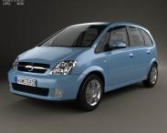 3D model of Opel Meriva (A) 2003