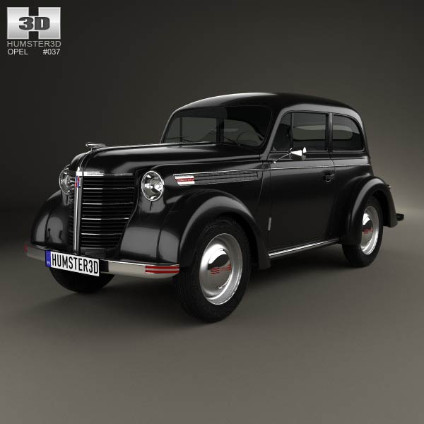 Opel Olympia (OL38) 1938 3d car model