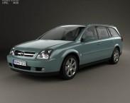3D model of Opel Vectra caravan 2002