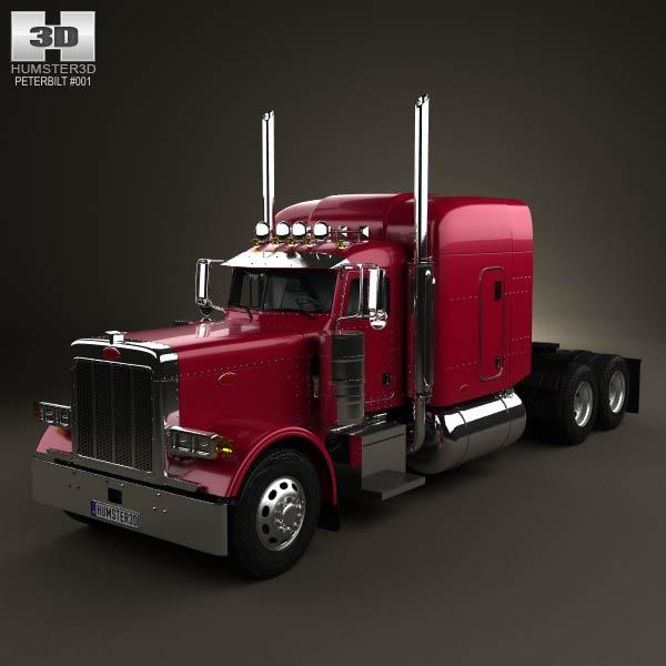 Peterbilt 379 Tractor Truck 1987 3d car model
