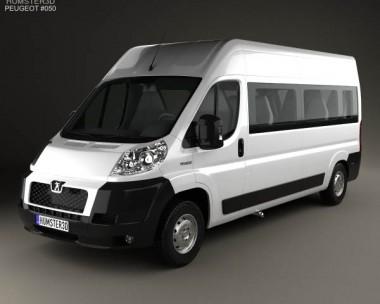 3D model of Peugeot Boxer Passenger Van 2007