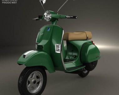 3D model of Piaggio Vespa PX 125 2012
