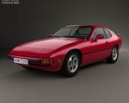 3D model of Porsche 924 1976