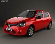 3D model of Renault Clio Mercosur 5-door hatchback 2013
