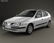 3D model of Renault Megane 5-door hatchback 1995