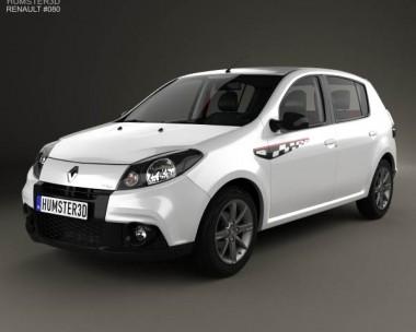 3D model of Renault Sandero GT Line 2012