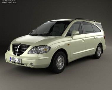 3D model of SsangYong Rodius 2007