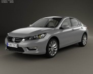 3D model of Honda Accord (Inspire) with HQ interior 2013