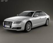 3D model of Audi A8 (D4) L 2014
