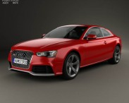 3D model of Audi RS5 coupe with HQ interior 2012