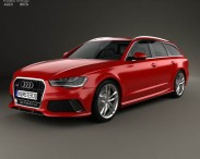 3D model of Audi RS6 (C7) avant 2014