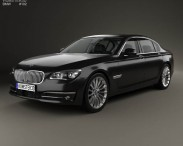 3D model of BMW 7 Series (F02) with HQ interior 2013