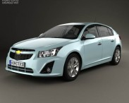 3D model of Chevrolet Cruze hatchback 2013