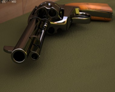 3D model of Colt Single Action Army 1873