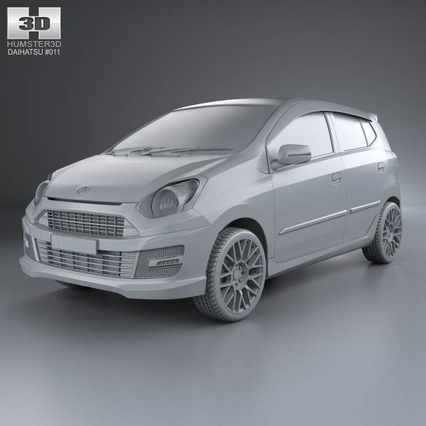 Daihatsu Astra Ayla Sporty 2013 3D model - Humster3D