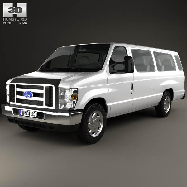 ford e series passenger van 2011 3d model humster3d. Black Bedroom Furniture Sets. Home Design Ideas