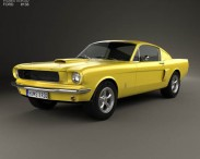 3D model of Ford Mustang Fastback with HQ interior 1965