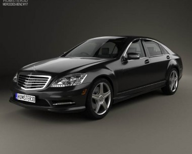 3D model of Mercedes-Benz S-Class (W221) with HQ interior 2013
