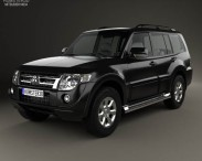 3D model of Mitsubishi Pajero (Montero) Wagon 2011