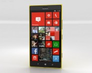 3D model of Nokia Lumia 1520 Yellow