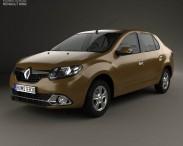 3D model of Renault Logan sedan (Brazil) 2013