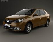 3D model of Renault Logan sedan (Brazil) with HQ interior 2013