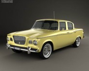 3D model of Studebaker Lark sedan 1960