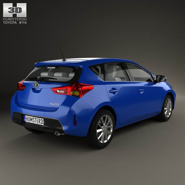toyota auris hatchback 5 door with hq interior 2013 3d model humster3d. Black Bedroom Furniture Sets. Home Design Ideas