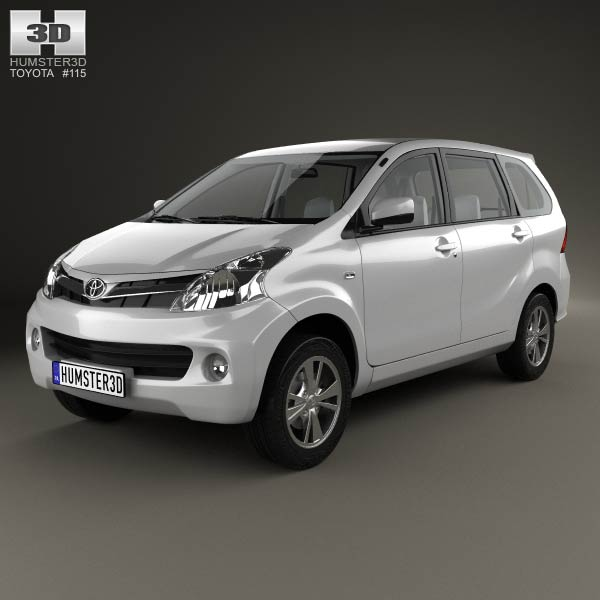 3D model of Toyota Avanza with HQ interior 2012