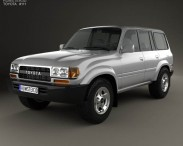 3D model of Toyota Land Cruiser (J80) 1995