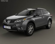 3D model of Toyota RAV4 with HQ interior 2013
