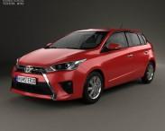3D model of Toyota Yaris 5-door hatchback 2014