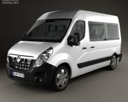 3D model of Vauxhall Movano Passenger Van 2010