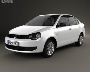 3D model of Volkswagen Polo Vivo sedan 2010