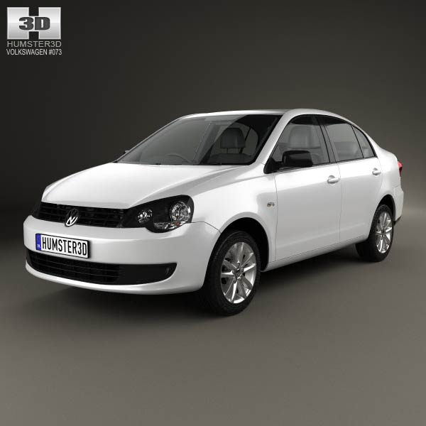 Volkswagen Polo Vivo sedan 2010 3d car model