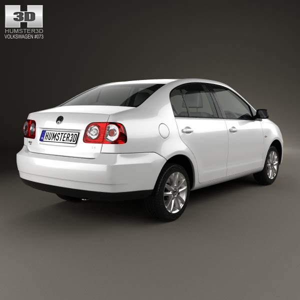 Volkswagen Polo Vivo sedan 2010 3d model