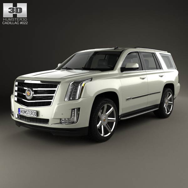 cadillac escalade 2015 3d model humster3d. Black Bedroom Furniture Sets. Home Design Ideas