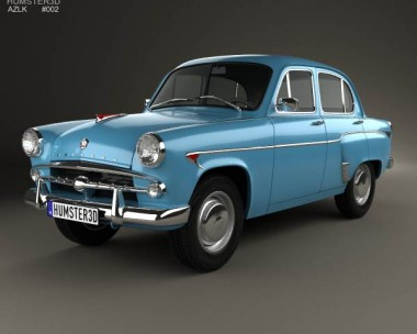 3D model of AZLK Moskvitch 402 1956