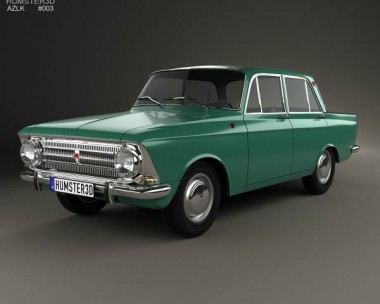 3D model of AZLK Moskvitch 408 1964