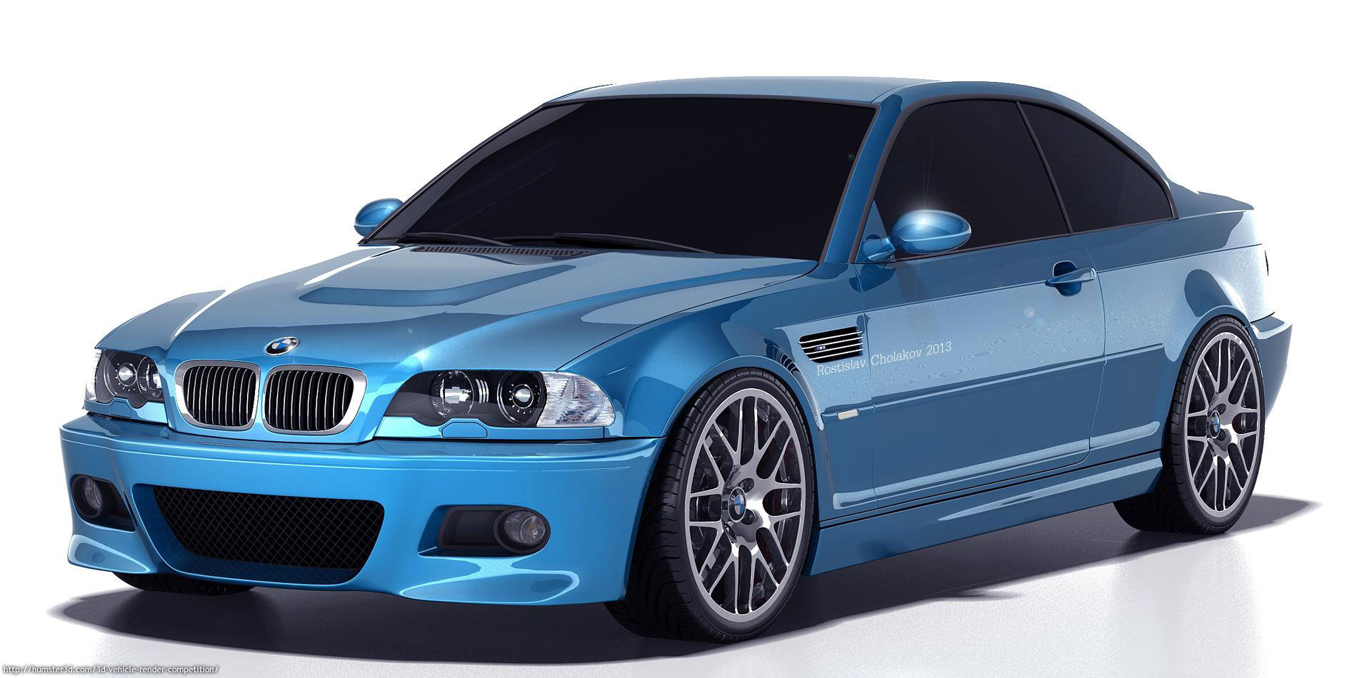 Bmw M3 E46 Render Rostislav Cholakov 3d Vehicle