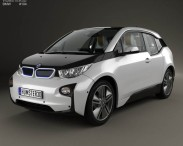 3D model of BMW i3 with HQ interior 2014