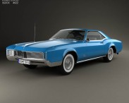 3D model of Buick Riviera 1966